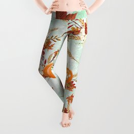 Autumn Pattern 07 Leggings