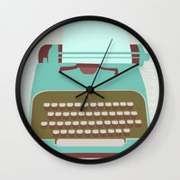 type Wall Clocks featuring Type by Rachel Gresham