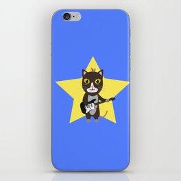 Rock-Music Cat iPhone Skin