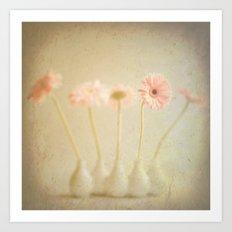 Textured Flowers (vintage flower photography) Art Print