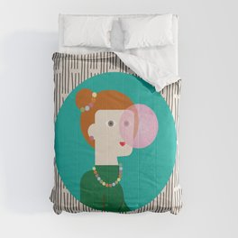 The girl and the bubble gum Comforters
