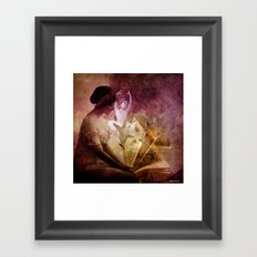 All of her days are written in His Book. Framed Art Print