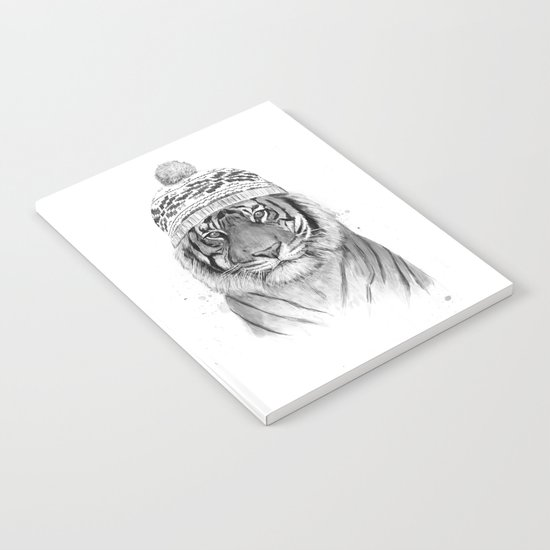 Siberian tiger (b&w) Notebook