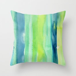 Vertical Stripes Pattern Spring Colors Throw Pillow