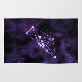 Geometric Taurus Constellation Rug