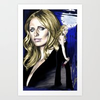 buffy the vampire slayer Art Prints featuring Buffy the Vampire Slayer by odysseyart
