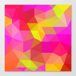Citrus Candy Low Poly Canvas Print
