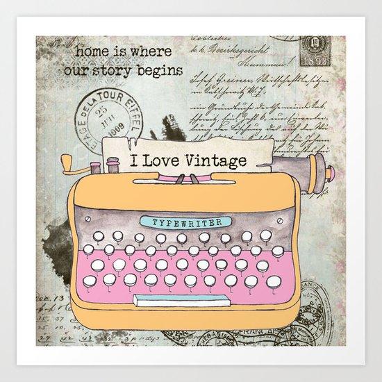 Typewriter #1 Art Print