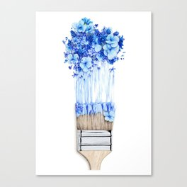 Flower Paint Brush Canvas Print