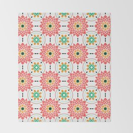 morrocan pink mandala pattern no4 Throw Blanket