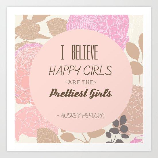 Pretty Girls Happy Girls Art Print