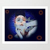 ezra koenig Art Prints featuring Ezra by James Nash