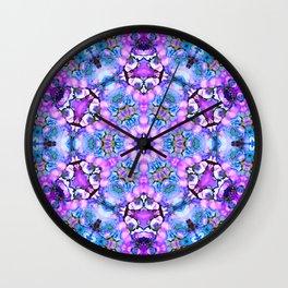 Ultra violet blue mandala Wall Clock