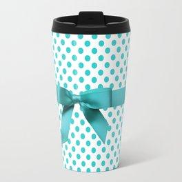 Blue Tiffany Polkadot Travel Mug