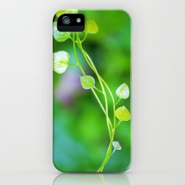 Macro Ivy with Little Green Leaves iPhone Case