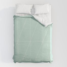 Mint Triangles by Friztin Duvet Cover