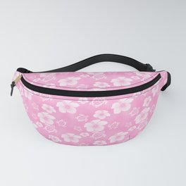 Soft Pink Hibiscus Turtle Hawaiian Pattern Fanny Pack