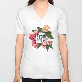 Va donc peter dans les fleurs Unisex V-Neck