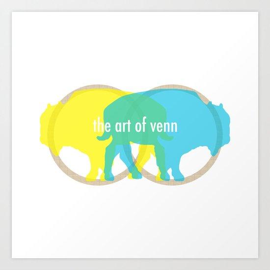 Buffalo Venn Art Print