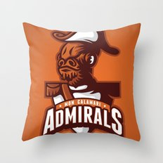 Mon Calamari Admirals on Orange Throw Pillow