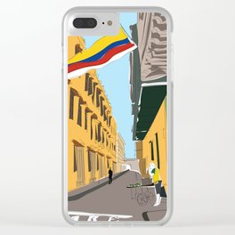 Cartagena de Indias, Colombia Travel Poster Clear iPhone Case