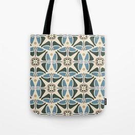 Blue Tulips - Circle Pattern Tote Bag