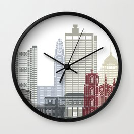Columbus skyline poster  Wall Clock