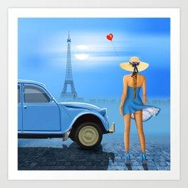 French blue Art Print