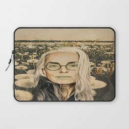 Old lady in the field Laptop Sleeve