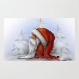 Little Santa in the snow Rug