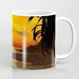 Sunset Kissed Mermaid Silhouette Coffee Mug