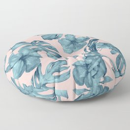 Island Life Teal on Light Pink Floor Pillow
