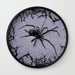 Briar Web - Gray Wall Clock