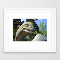 dino Framed Art Prints featuring Dino  by Bakal Evgeny