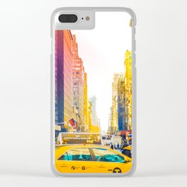 Colors of New York City Downtown Manhattan Clear iPhone Case