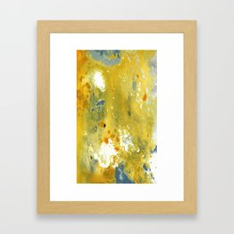 Abstract Acrylic Painting YELLOW Framed Art Print