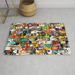 Funny Characters Collage — Culture & Science By Cats Rug