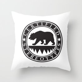 California Certified Stereotypes Throw Pillow
