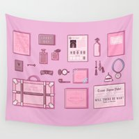 budapest Wall Tapestries featuring Grand Budapest Items by M. Gulin