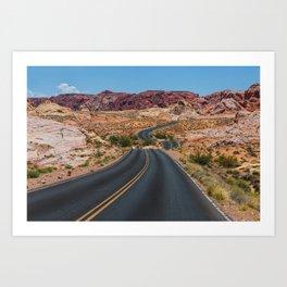 Valley of Fire - Nevada USA Art Print