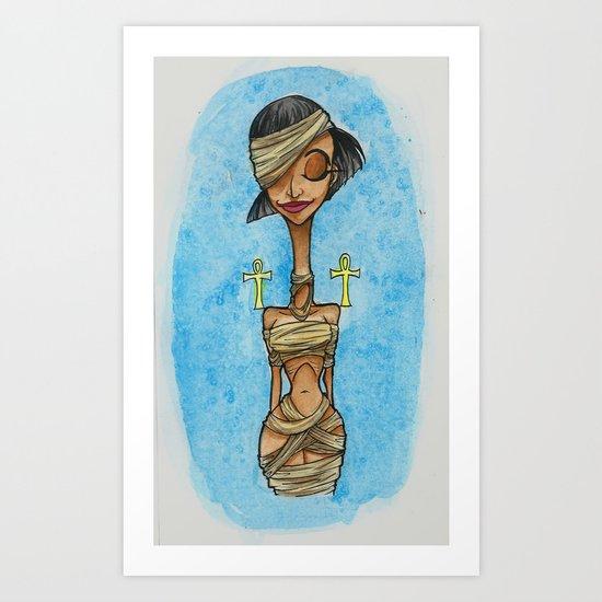 Mummy Pinup Art Print