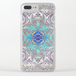 Psychedelic Ironwork Clear iPhone Case