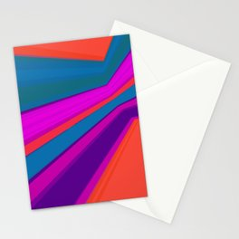 Abstract geometric pattern.Multicolored stripes Stationery Cards