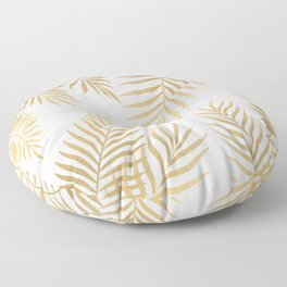 Gold palm leaves Floor Pillow