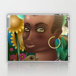 Flower girl in a tropical forest Laptop & iPad Skin