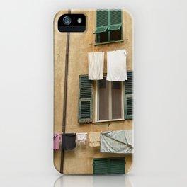 Hanging laundry iPhone Case