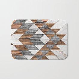 Urban Tribal Pattern No.12 - Aztec - Wood Bath Mat