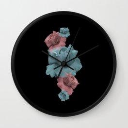Glitch Roses Wall Clock