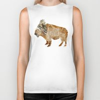 buffalo Biker Tanks featuring buffalo by bri.buckley