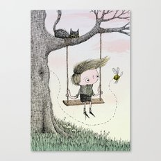 'Boy & Bee' Canvas Print